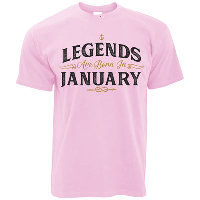 Birthday T Shirt Legends Are Born In January