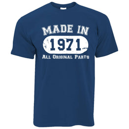 Made in 1971 All Original Parts Mens T-Shirt [Distressed]