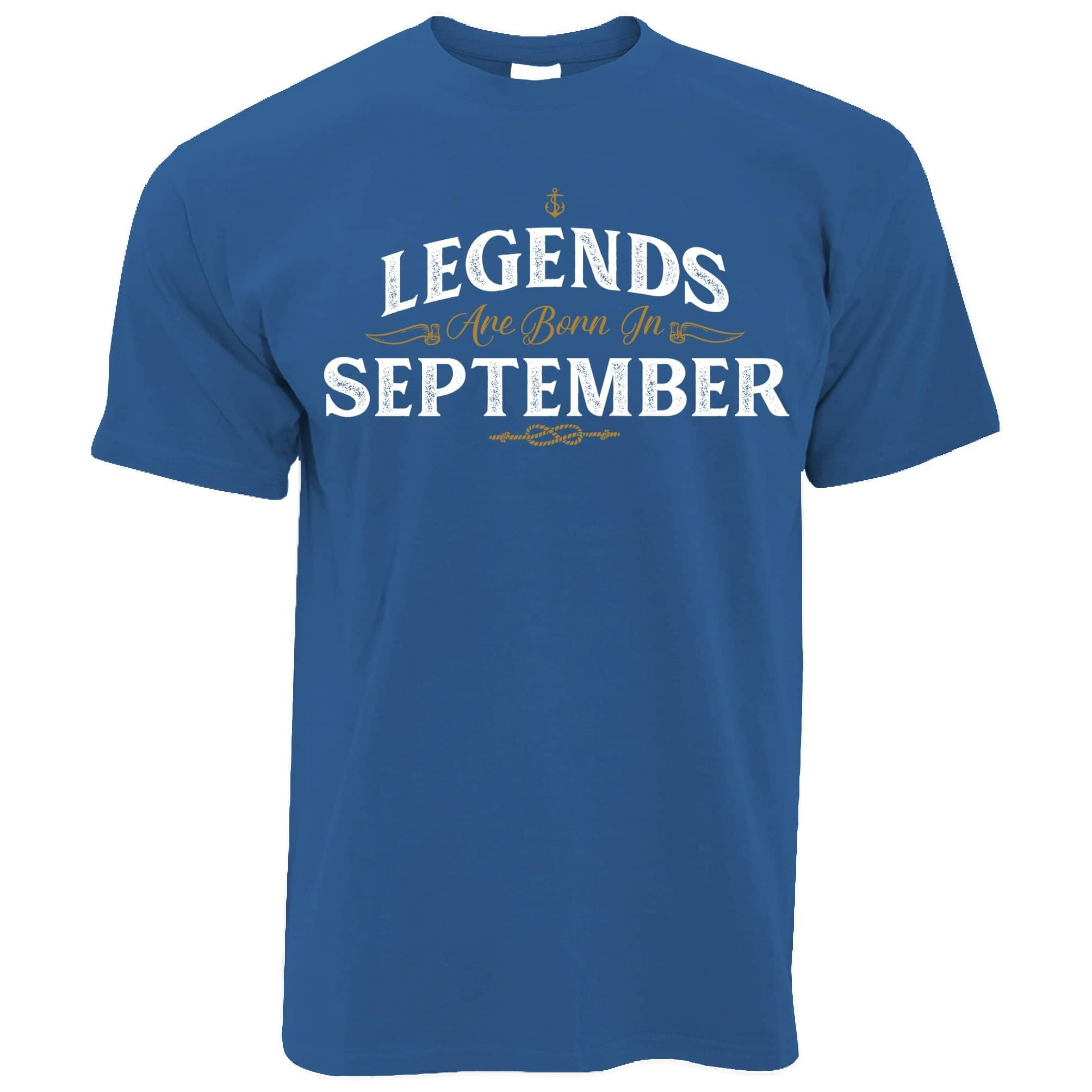 Birthday T Shirt Legends Are Born In September