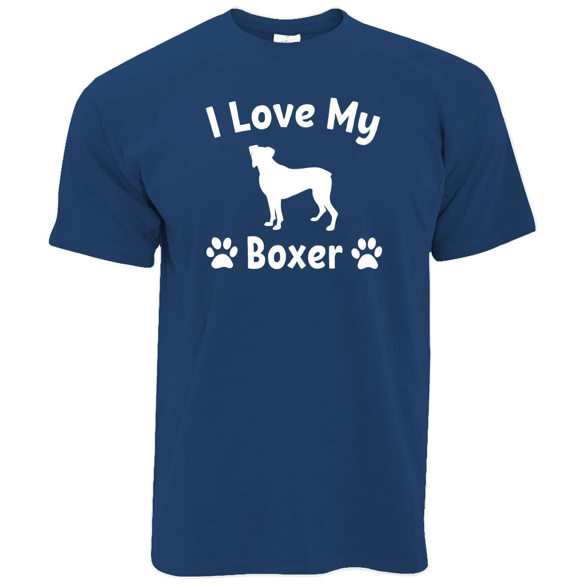 Dog Owner T Shirt I Love My Boxer Dog Owner