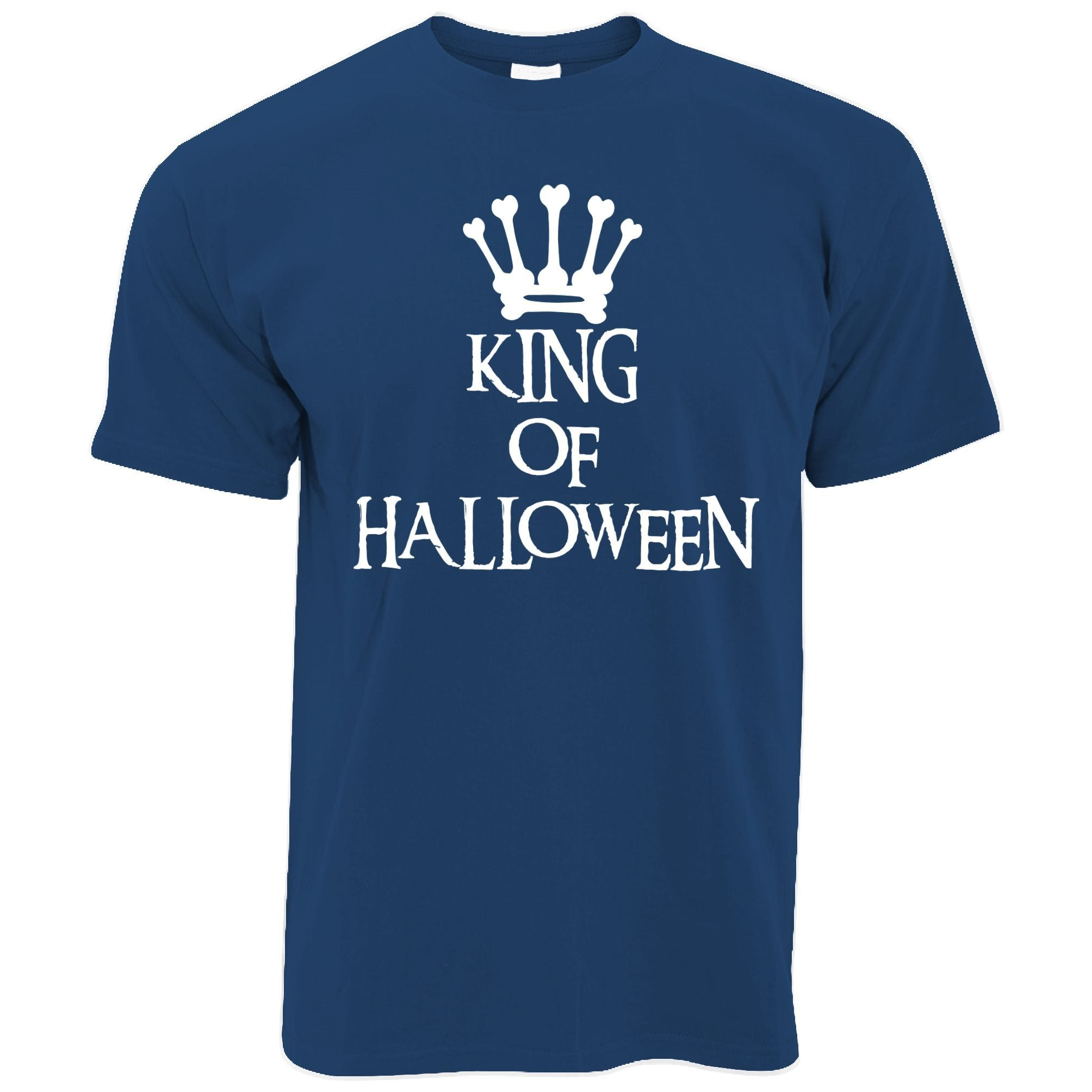 Novelty Spooky T Shirt King Of Halloween Crown
