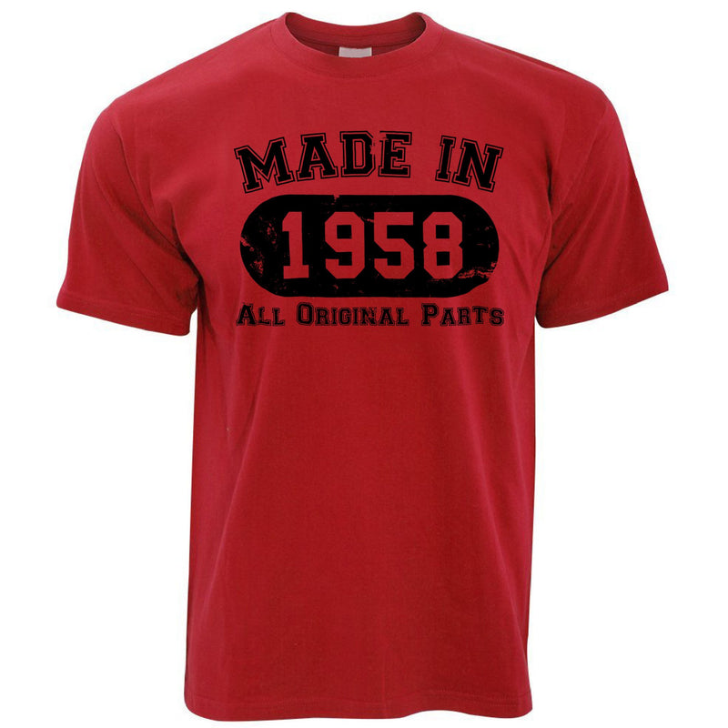Made in 1958 All Original Parts Mens T-Shirt [Distressed]