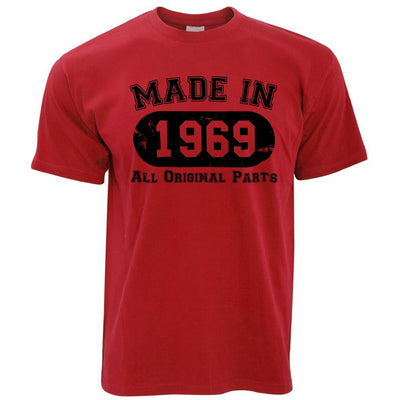Made in 1969 All Original Parts Mens T-Shirt [Distressed]