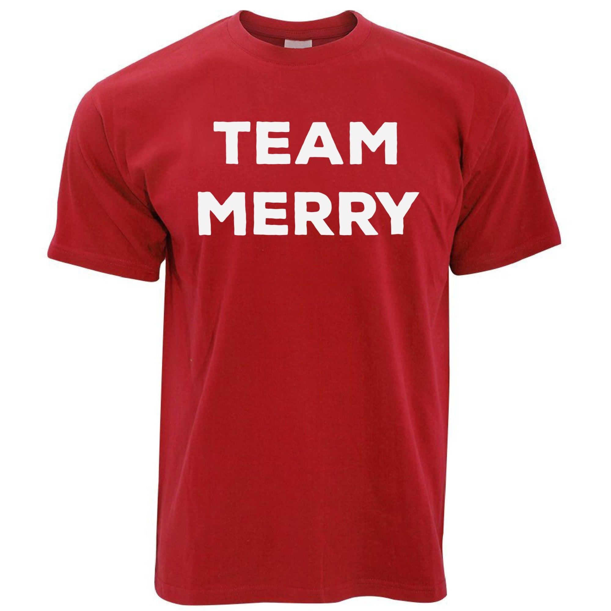 Novelty Xmas T Shirt Team Merry Christmas