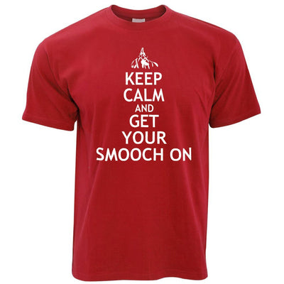 Christmas T Shirt Keep Calm and Get Your Smooch On