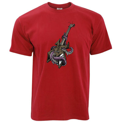 Guitar And Tentacles Rock Goth Heavy Metal Music Punk Mens T-Shirt