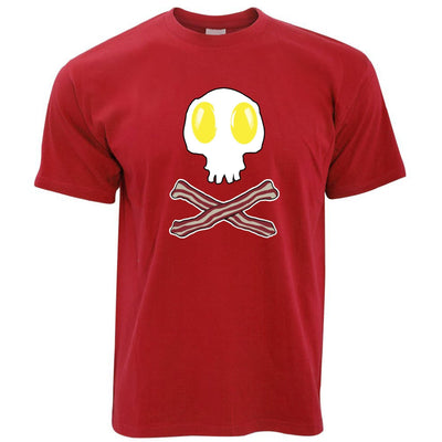 Breakfast T Shirt Bacon And Egg Skull & Crossbones