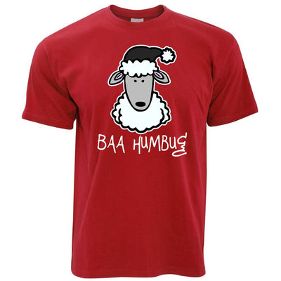 Joke Christmas T Shirt Baa Humbug Sheep Pun
