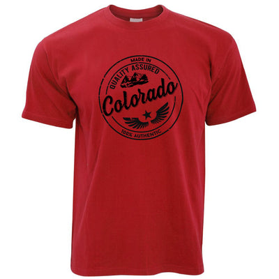 Hometown Pride T Shirt Made in Colorado Stamp