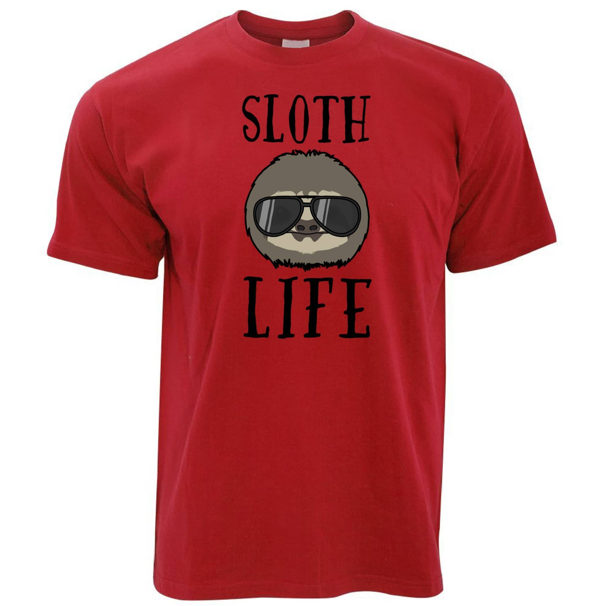 Novelty Animal T Shirt Sloth Life Pun Slogan