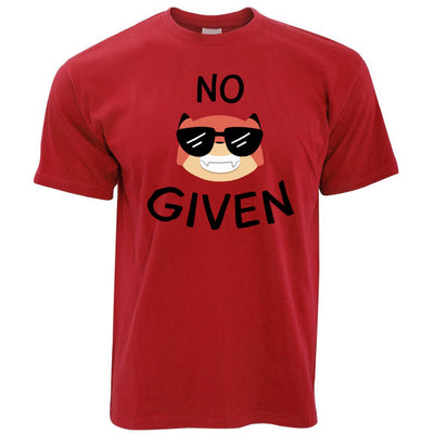Novelty Animal Pun T Shirt No Fox Given Joke