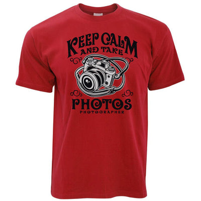Retro Art T Shirt Keep Calm And Take Photos Slogan
