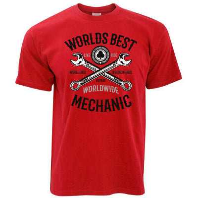 Mens World's Best Mechanic T Shirt Tee