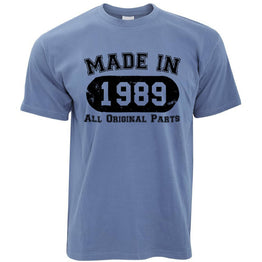 Made in 1989 All Original Parts Mens T-Shirt [Distressed]