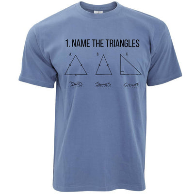 Funny Math T Shirt Name The Triangles Exam Answer