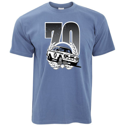 Racing T Shirt Classic Rally Car Retro 70