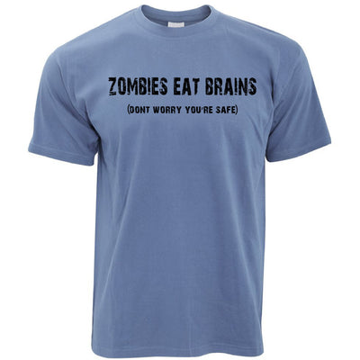 Halloween T Shirt Zombies Eat Brains, You're Safe