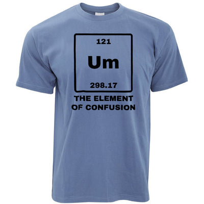 Novelty Science T Shirt Um The Element Of Confusion