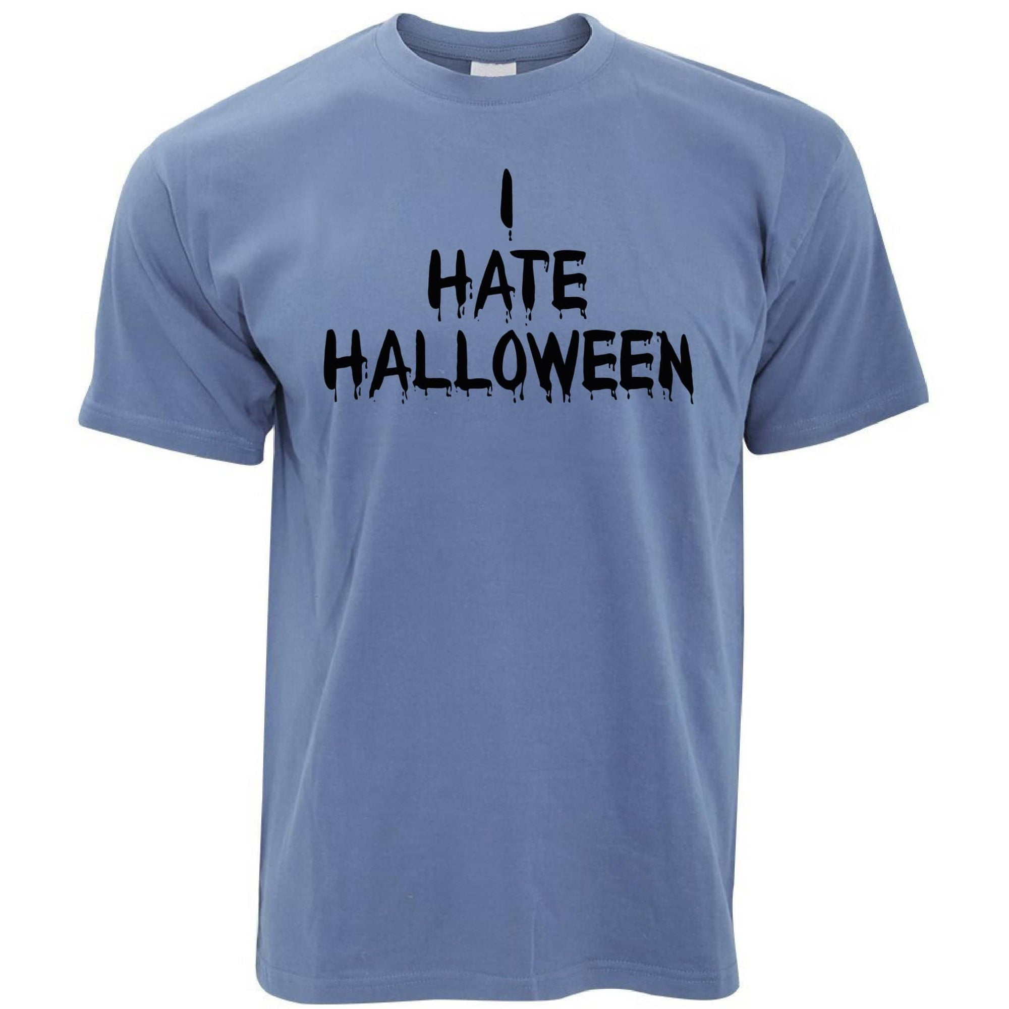 Anti-Holiday T Shirt I Hate Halloween Slogan