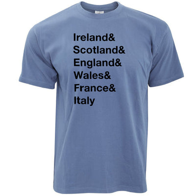 The Six Nations T Shirt Ireland, Scotland, England