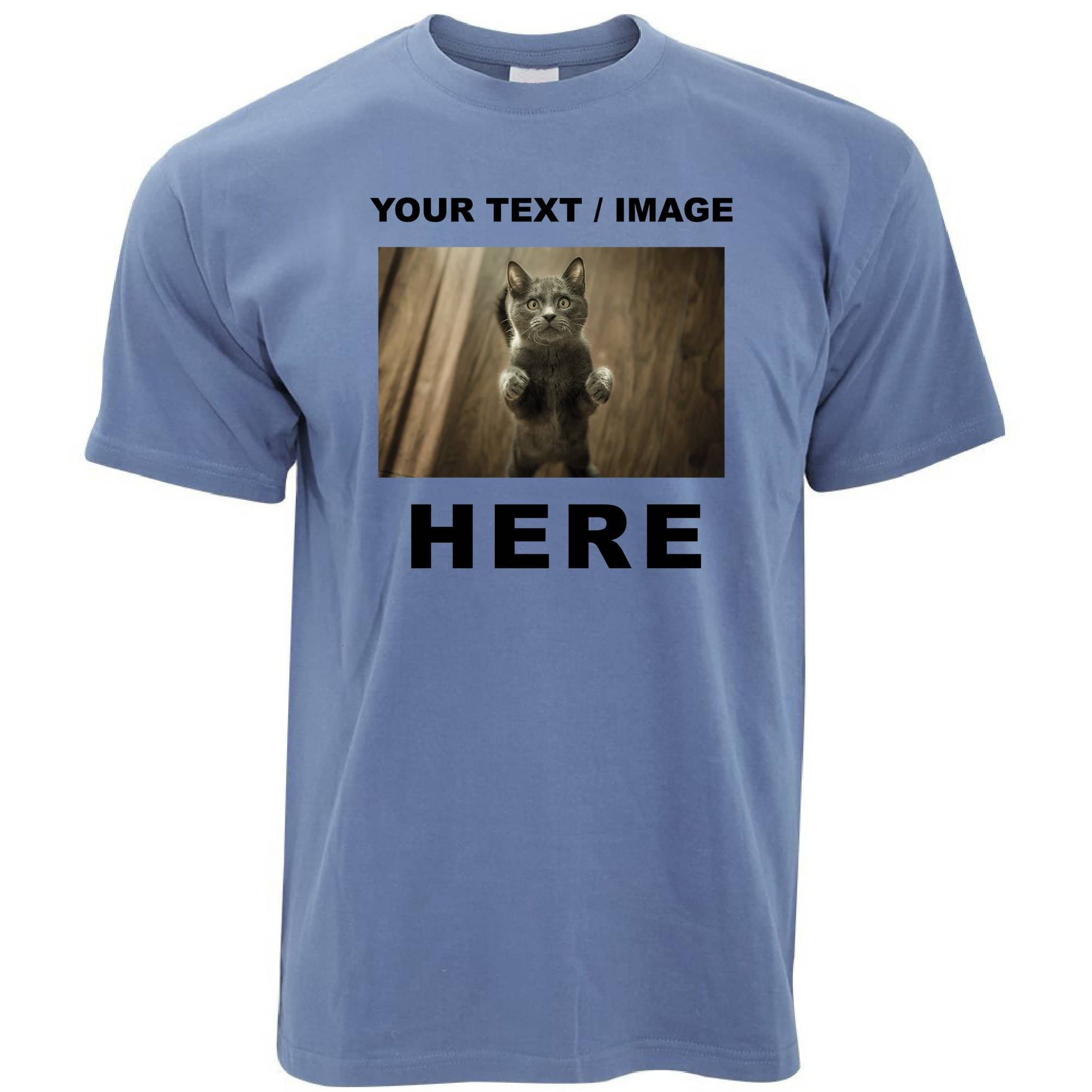 Custom Printed T Shirt with Your Text or Image