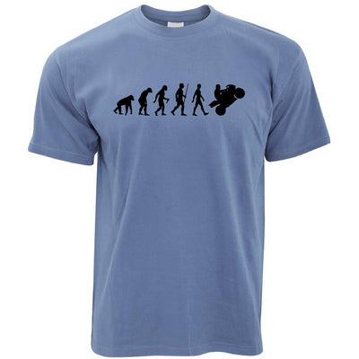 Evolution of a Biker Motorcyclist T-shirt in Blue