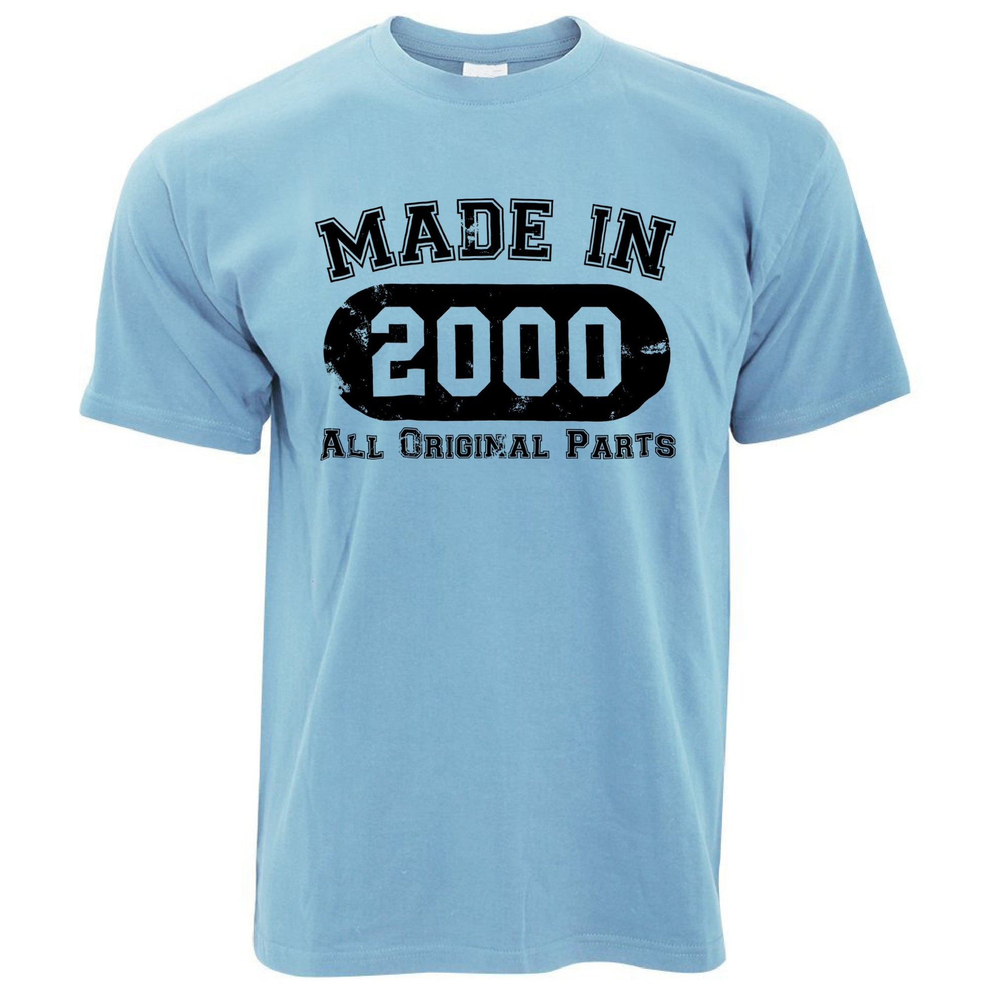 Made in 2000 All Original Parts Mens T-Shirt [Distressed]