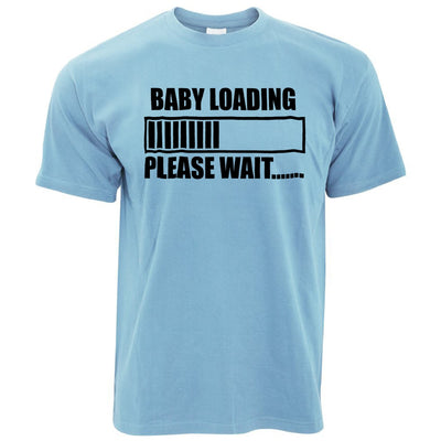 Novelty T Shirt Baby Loading Bar Please Wait