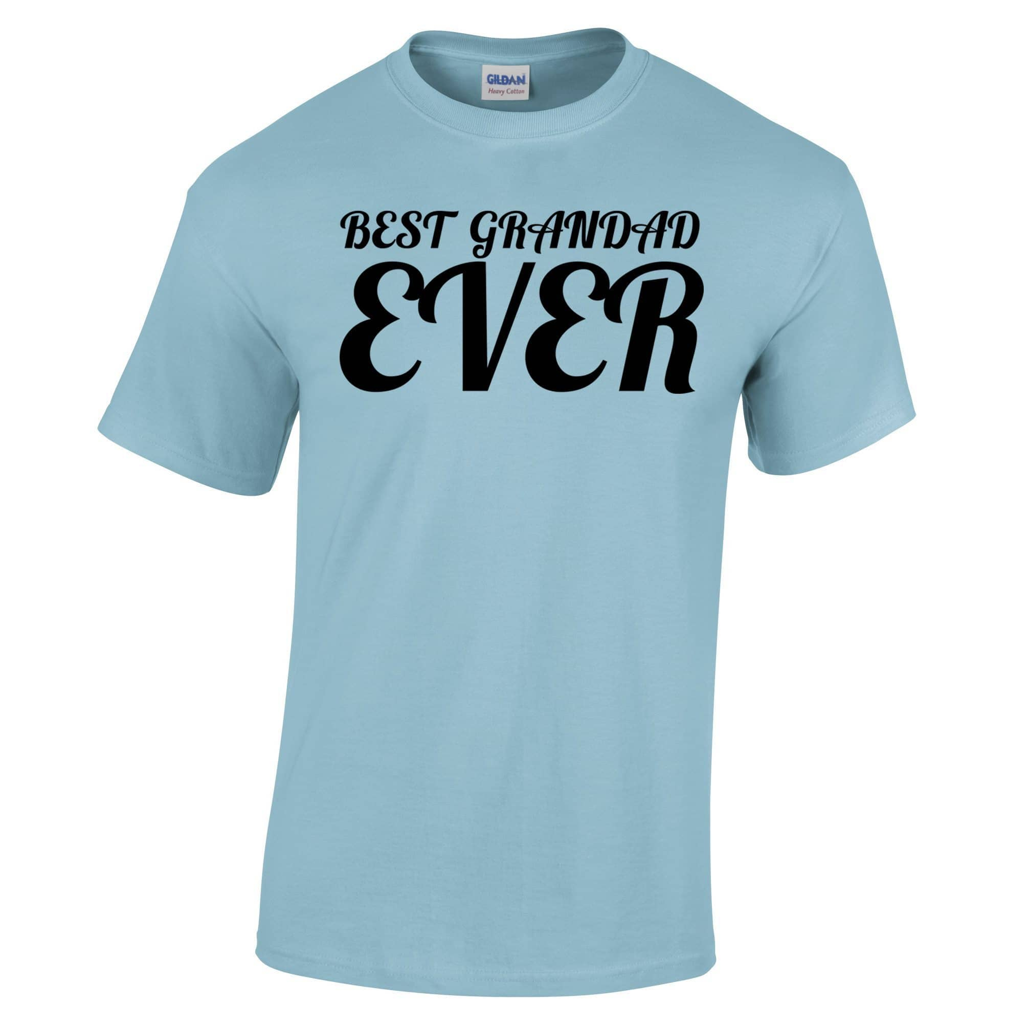 Fathers Day T Shirt Best Grandad Ever Slogan