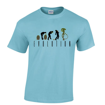 Mens Alien T Shirt Evolution of a Xenomorph Tee