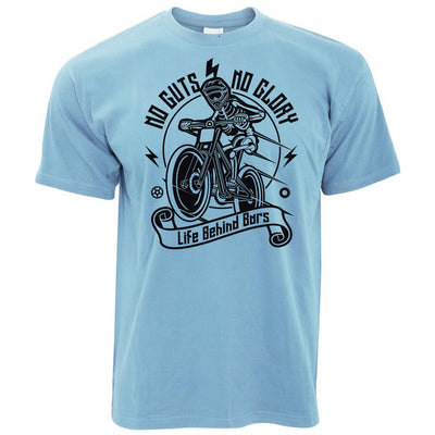 Cycling T Shirt No Guts No Glory Mountain Biking Bike