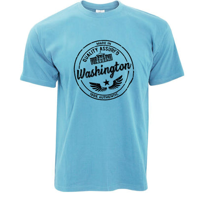 Hometown Pride T Shirt Made in Washington Stamp