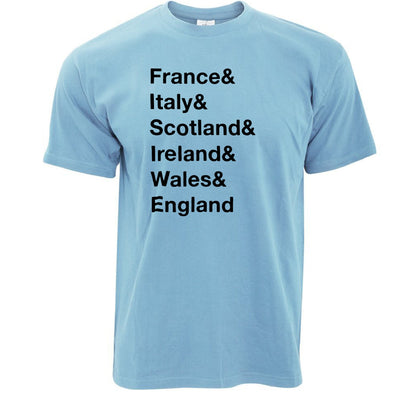 The Six Nations T Shirt France, Italy, Scotland