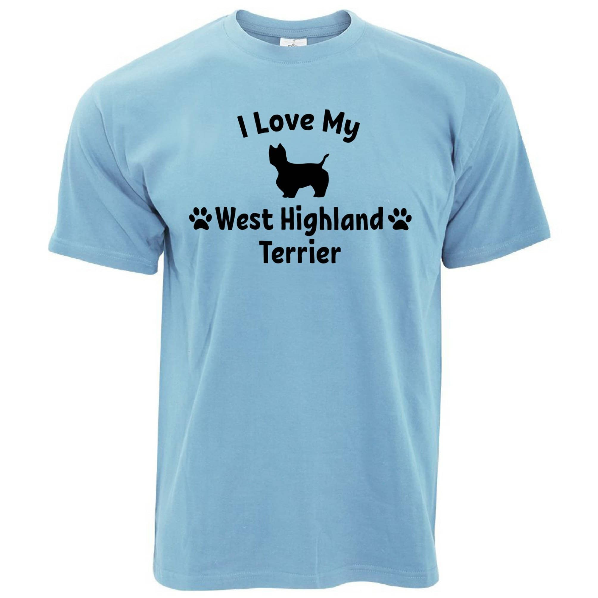 Dog Owner T Shirt I Love My West Highland Terrier