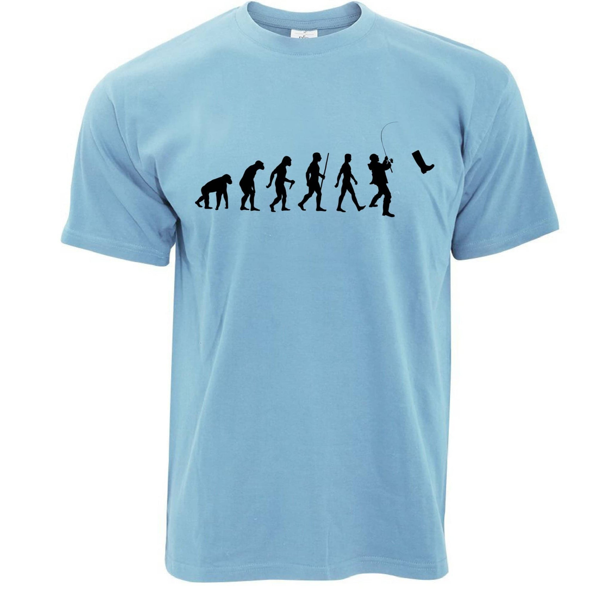 Fisherman T Shirt The Evolution Of Fishing Boot