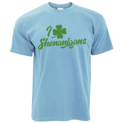 Novelty St Patricks Day T Shirt I Love Shenanigans