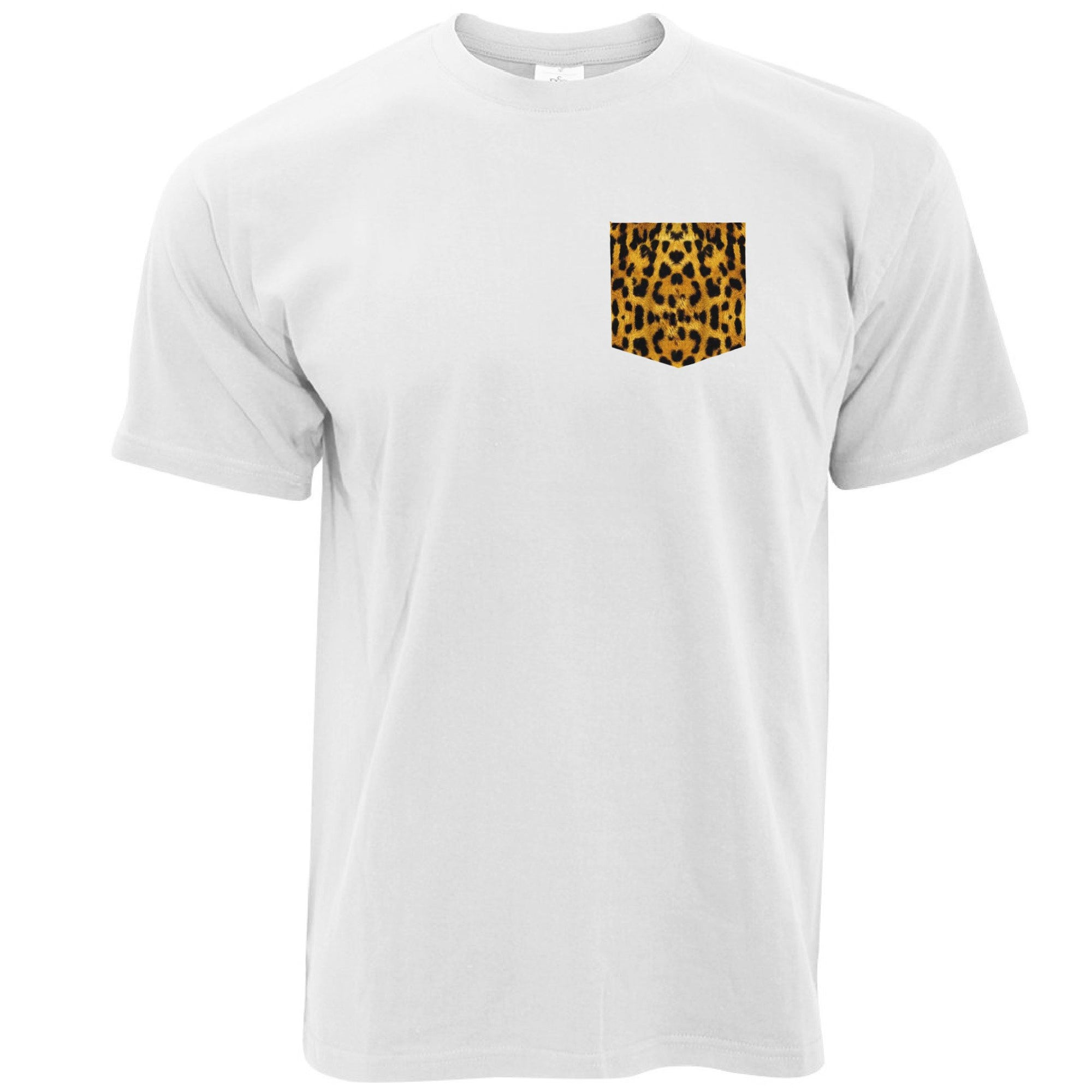 Hipster T Shirt Leopard Print Fake Pocket