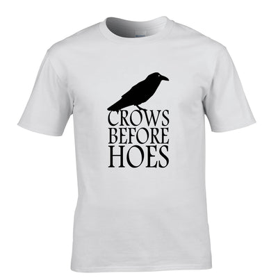 TV Parody T Shirt Crows Before Hoes Slogan