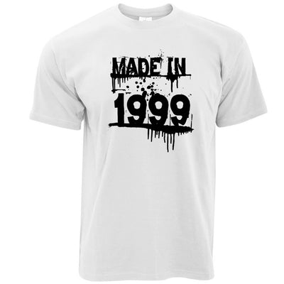 Birthday T Shirt Made In 1999 Graffiti