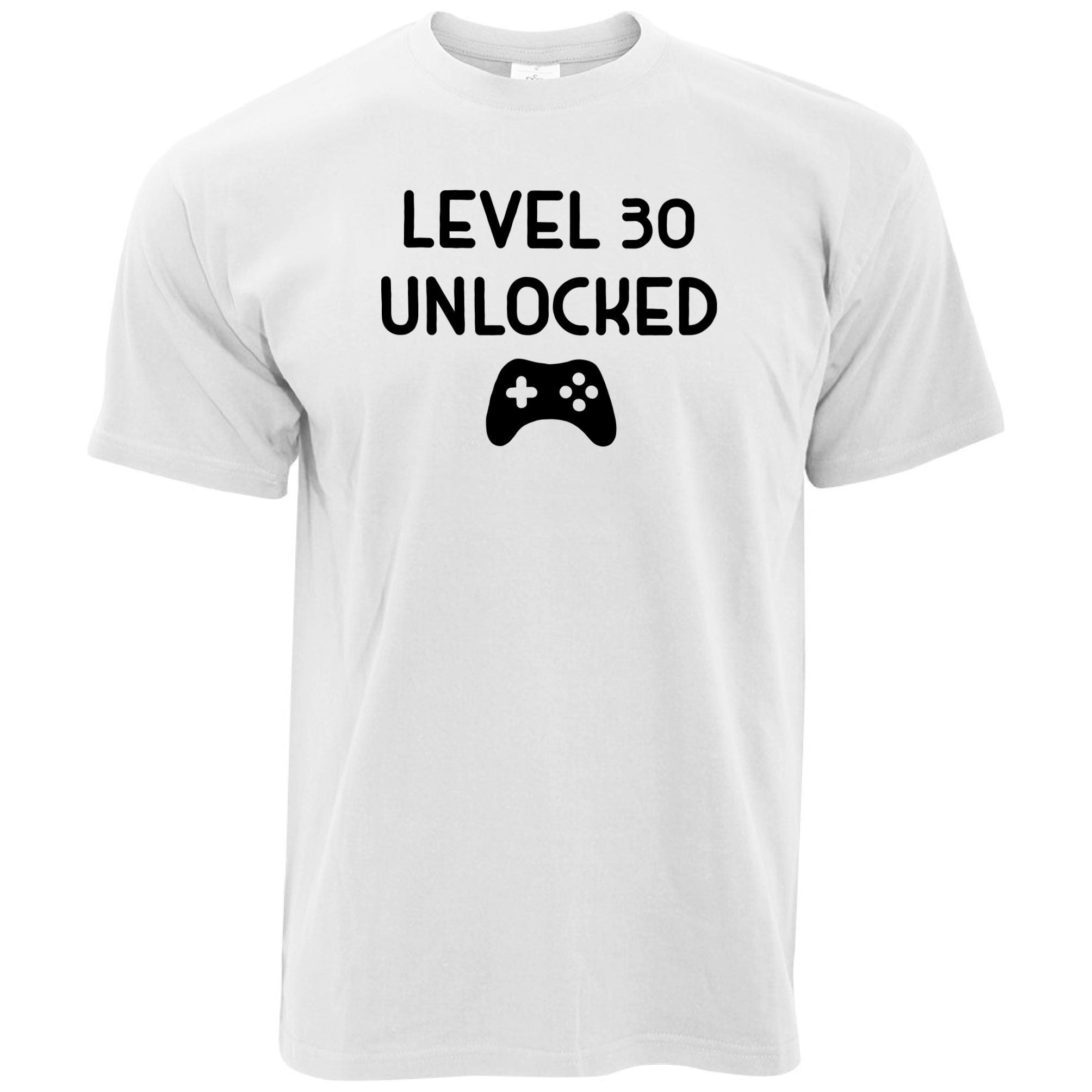 Gamers 30th Birthday T Shirt Level 30 Unlocked Slogan