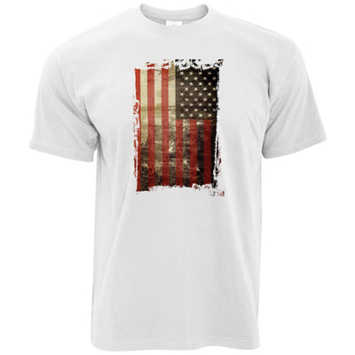 4th Of July T Shirt Distressed USA American Flag Art