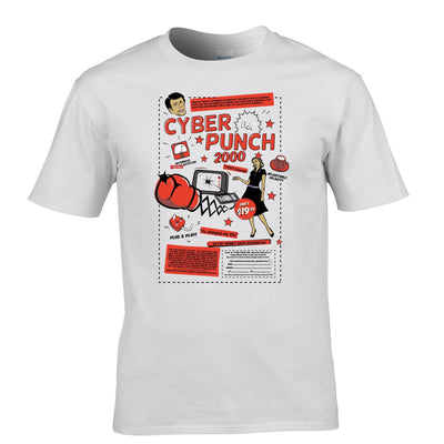 Cyber Punch 2000 Punch Face Over Internet Meme Funny Geek Mens T-Shirt