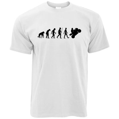 Evolution of a Biker Motorcyclist T-shirt in White