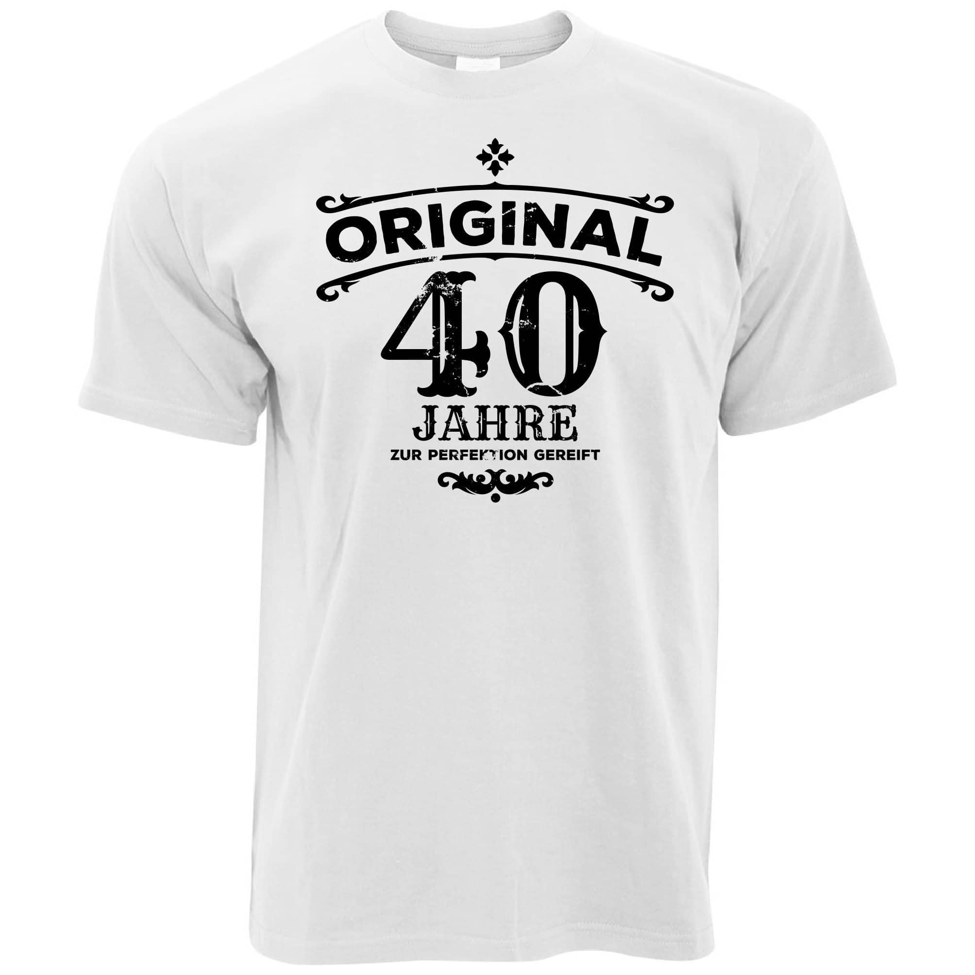 40th Birthday T Shirt Original Aged Forty 40 Years