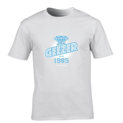 33rd Birthday T Shirt Diamond Geezer Since 1985