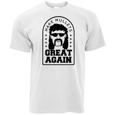Mens Funny T Shirt Make Mullets Great Again Tee