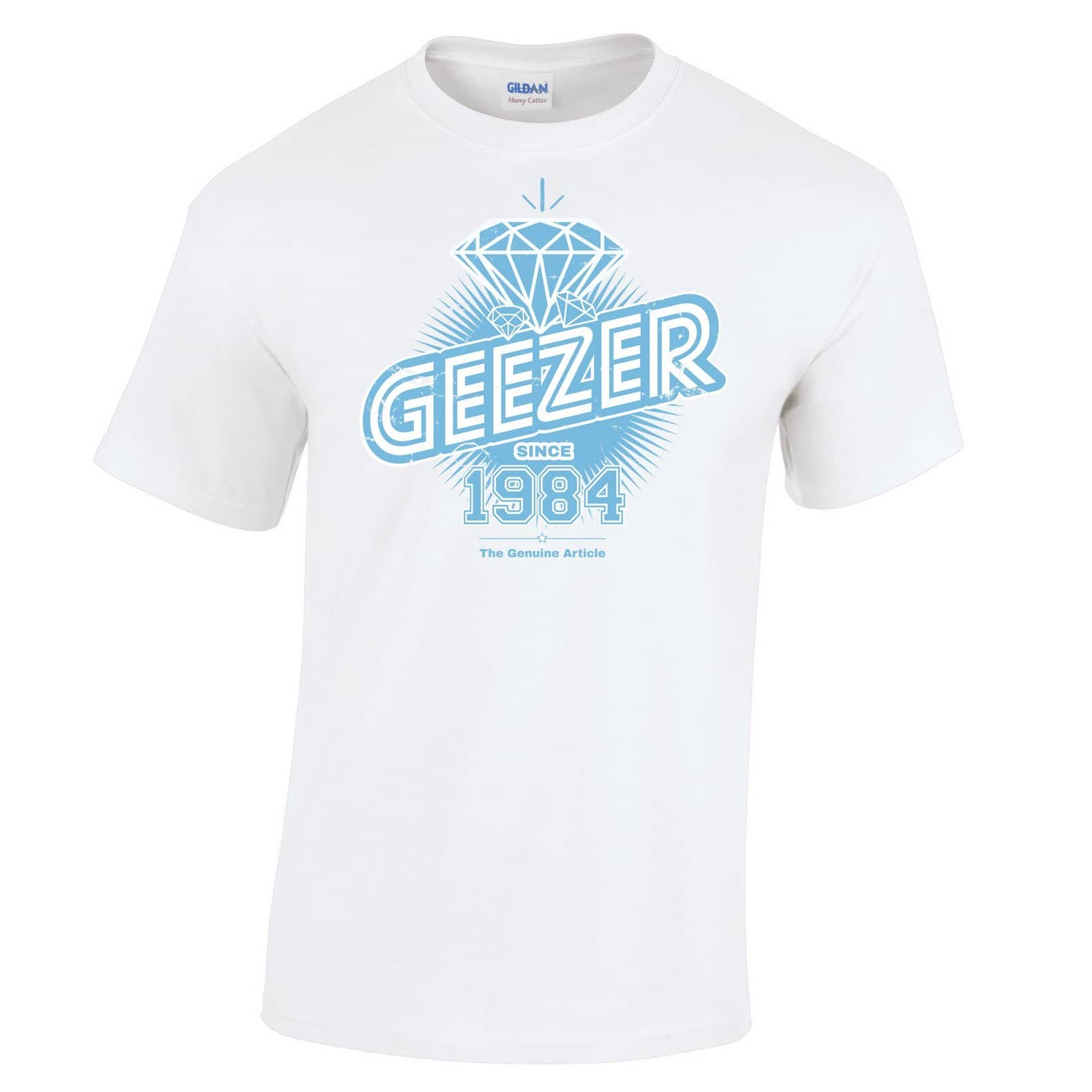 34th Birthday T Shirt Diamond Geezer Since 1984