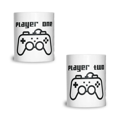 Couples Pack of 2 Mugs Cute Gamer Controllers His Hers Valentines