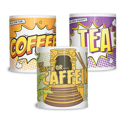 Comic Book Ceramic Mug 3 Pack Of Pop Art Coffee Caffeine Retro Office