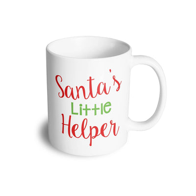 Christmas Mug Santa's Little Helper Slogan Coffee Tea Cup
